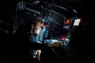 2014-15, Dongfeng Race Team, Leg7, OBR, VOR, Volvo Ocean Race, onboard, Charles Caudrelier, down below, nav, navigation desk