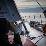 2014-15, Dongfeng Race Team, Leg7, OBR, VOR, Volvo Ocean Race, onboard, Martin Stromberg, binoculars, fleet