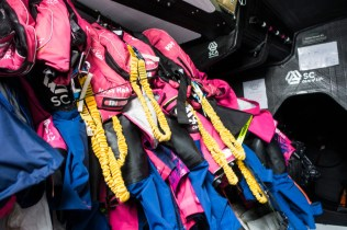 2014-15, Leg 7, OBR, Team SCA, VOR, Volvo Ocean Race, onboard, life jacksts, down below, life on board