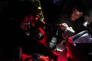 2014-15, Dongfeng Race Team, Leg8, OBR, VOR, Volvo Ocean Race, Yann Riou, onboard, Pascal Bidegorry, food, life on board, down below, night