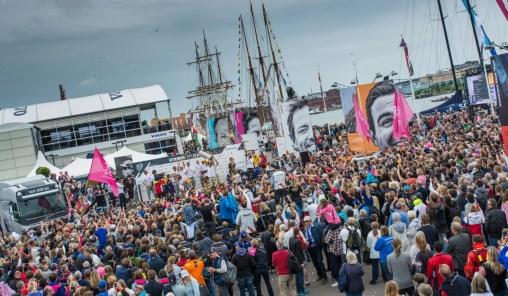 2014-15, VOR, Volvo Ocean Race, Inport, Gothenburg, crowds, Race Village, Prizegiving