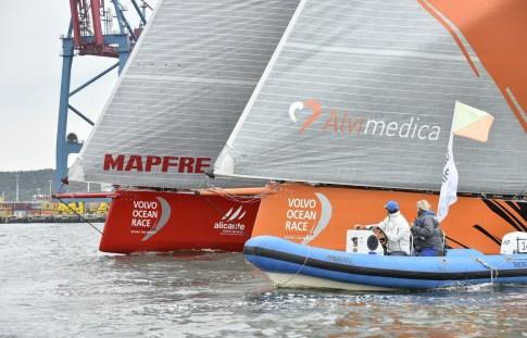 2014-15, VOR, Volvo Ocean Race, Inport, Gothenburg, Team Alvimedica, MAPFRE