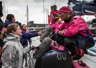 Volvo Ocean Race, Arrivals, VOR, 2014-15, Hague, Team SCA