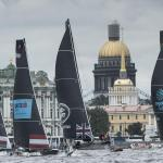 The Extreme Sailing Series 2016, St Petersburg, Russia, Multihull, Act5, Foiling, GC32, Catamaran