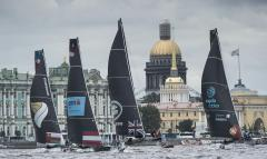 The Extreme Sailing Series 2016, St Petersburg, Russia, Multihull, Act5, Foiling, GC32, Catamaran