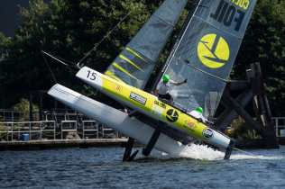 Cardiff, Culture Foil, Day4, ESS, Extreme Sailing Series, Flying Phantom, Vincent Curutchet