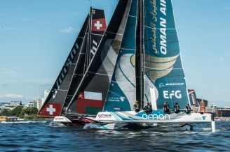 Alinghi, Cardiff, Day4, ESS, Extreme Sailing Series, GC32, Oman Air, Vincent Curutchet