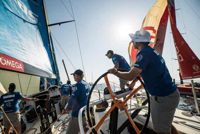 Commercial,Helm,Wheel,2017-18,on board,on-board,Vestas 11th hour Racing,Race Suppliers,OMEGA,Official Timekeeper