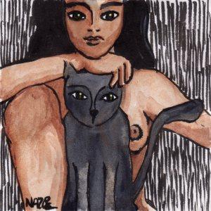 entre quatre yeux dessin naz oke chat femme