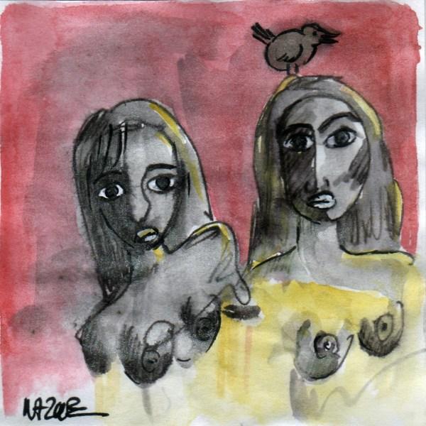 women femmes oiseau bird