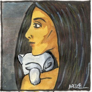 entre quatre yeux dessin naz oke chat femme my baby cat