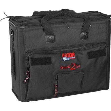 gator cases gsr 2u studio 2 go carrying case for laptop and 2u rack mount recording device