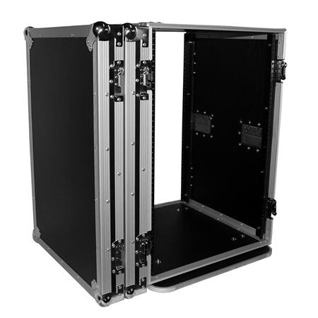 prox t 16rss 16u ata deluxe flight road case with 4 casters for amplifier rack mount module 19 rail depth