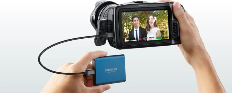 High speed USB-C connection for direct external recording!