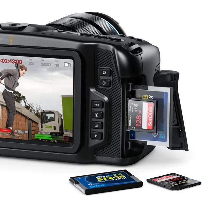 Record using standard SD cards, UHS-II cards or CFast 2.0 media!