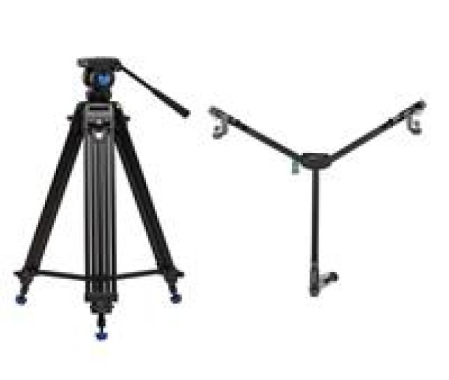 Benro Kh25n Video Tripod Kit 28  Height Range With Benro Dl 06 Dolly
