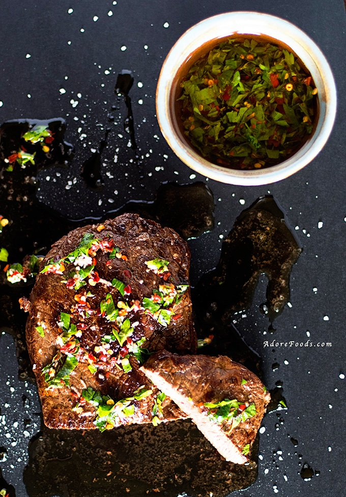 Argentinian Beef Steak with Chimichurri