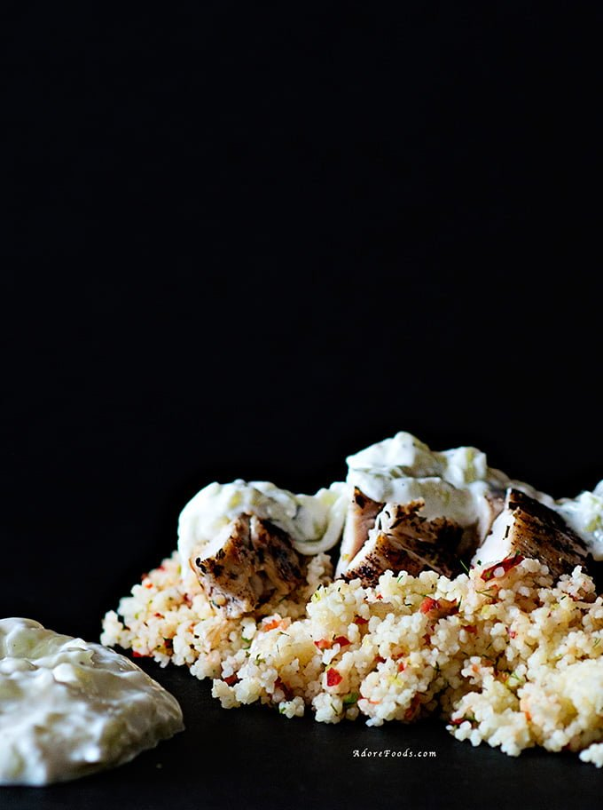 Greek Chicken with CousCous and homemade Tzatziki