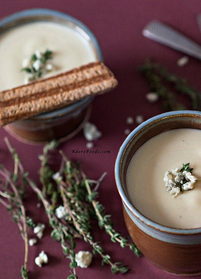 Potato and Blue Cheese Soup