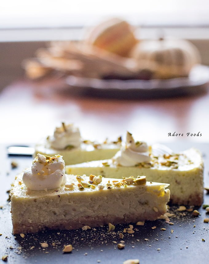 Pistachio Lime Cheesecake