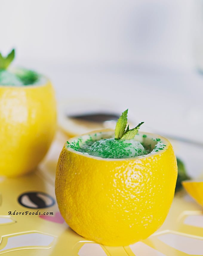 How to make lemon sorbet