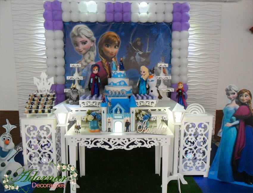 Aluguel Decoração Frozen Tema Completo
