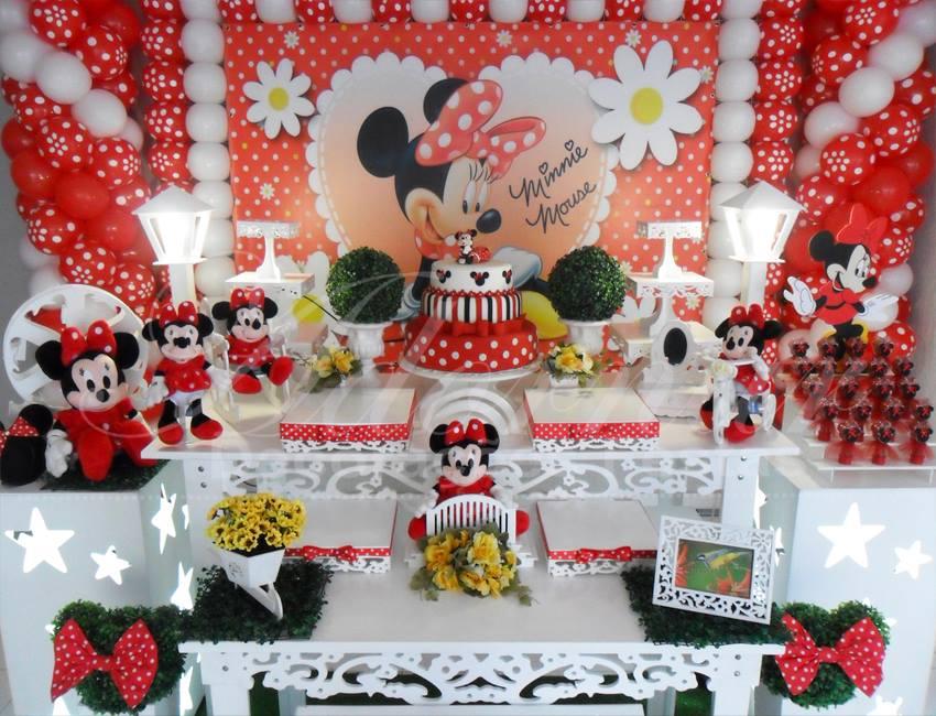Aluguel Decoração Minnie Mouse Vermelha