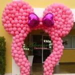 Arco de Balões Orelha da Minnie Rosa