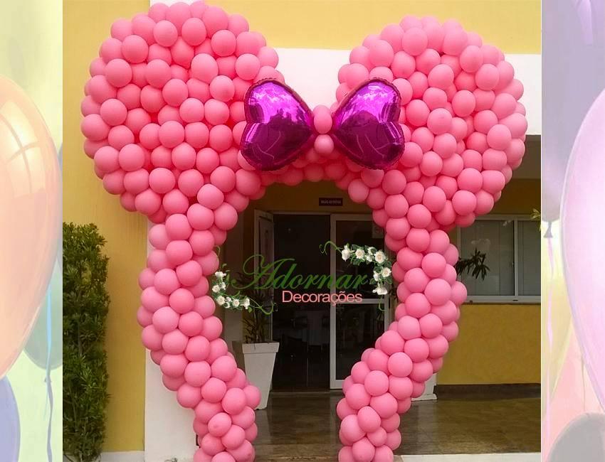 Arco de Balão Orelha da Minnie Rosa