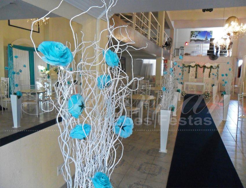 Aluguel Decoração de Casamento Completa Azul Tiffany e Branco