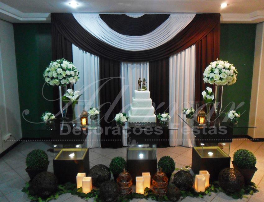 Decoração Casamento Branco e Marrom