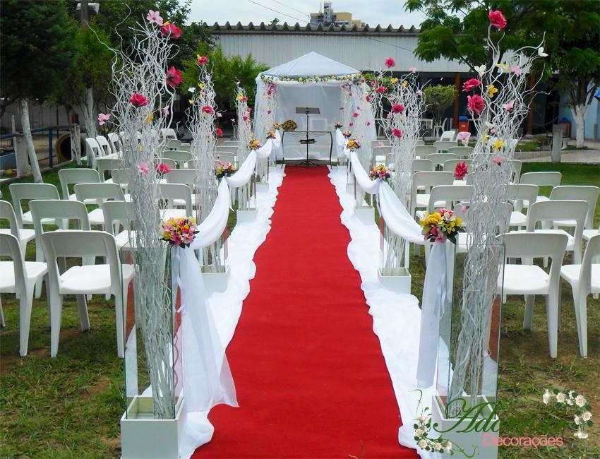 Decoração Casamento Rosa e Amarelo