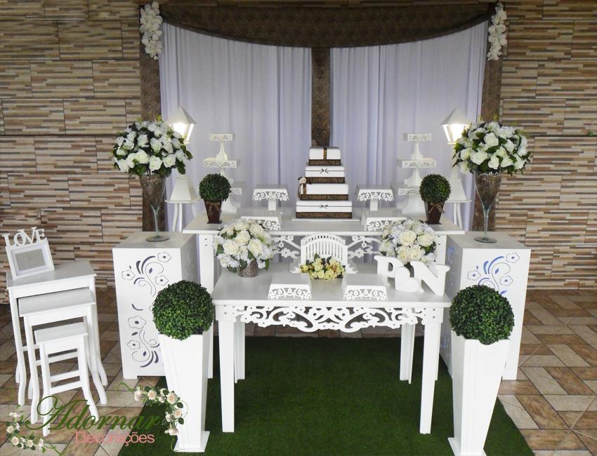 Decoração Casamento Dourado e Branco