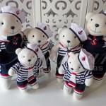 locação de kit personagens ursinhos marinheiros para decoração de festa infantil