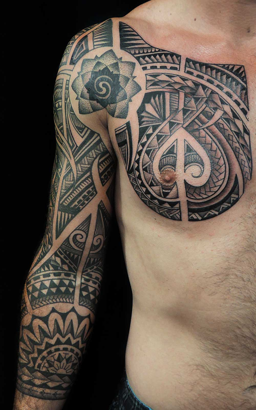 Egyptian Back Tattoo With Anubis Horus And Eye Of Rah