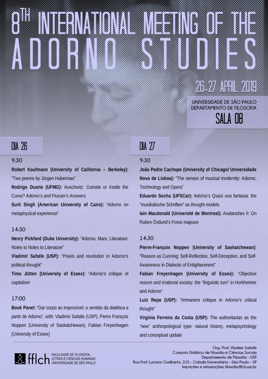 March | 2019 | The Association for Adorno Studies