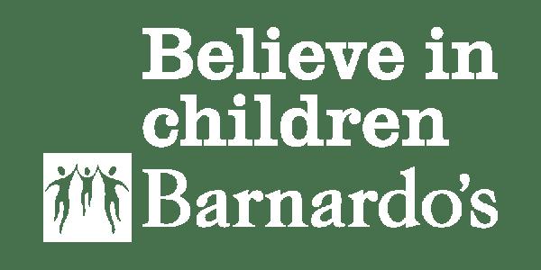 Barnardo's logo - believe in children, a client of a dozen eggs