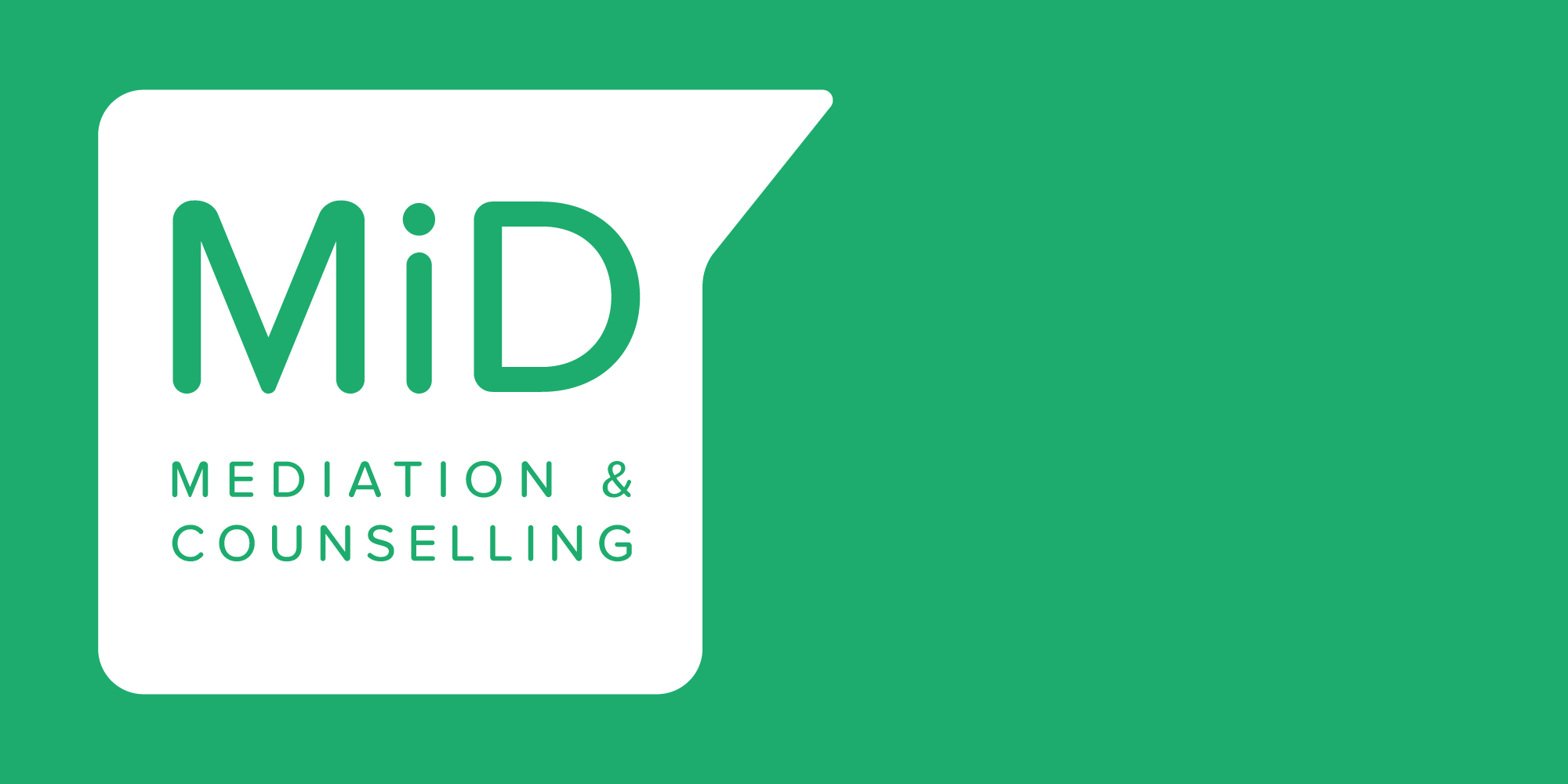 Brand identity design for MiD, London based Mediation and Counselling