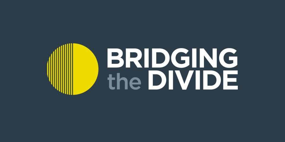 Brand identity and illustration for Bridging the Divide research projects, based at De Montfort University in Leicester