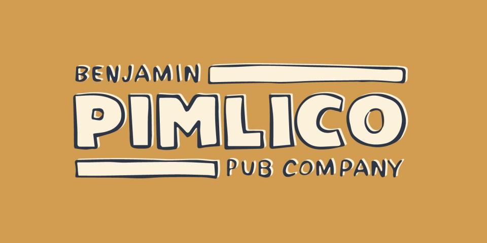 Brand identity and design for Benjamin Pimlico, parent company of the White Hart pub in Loughborough