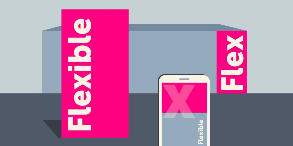 Flexible brands - how brands can be showcased on buildings, digitally and in print.