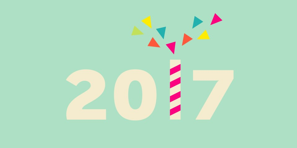 Design trends of 2017 including popping colours, irregular module grids, customised functionality and material design