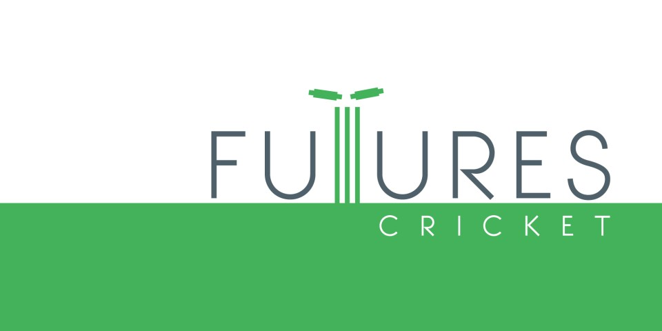 Futures Cricket logo, cricket coaching service based in London.