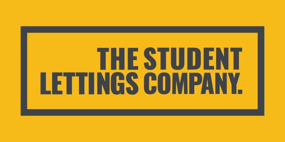 The Student Lettings Company logo, a logo that works well on mobile and can be scaled up easily.