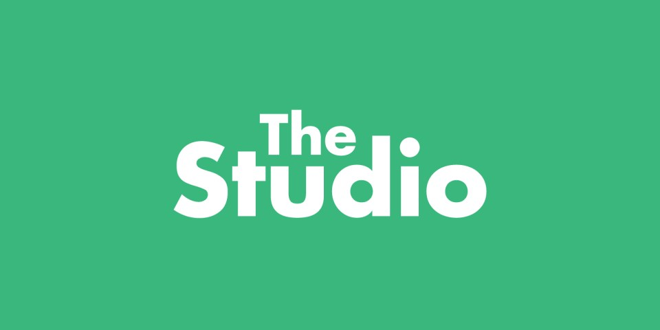 The Studio logo, a type based logo for Loughborough University's enterprise offering.