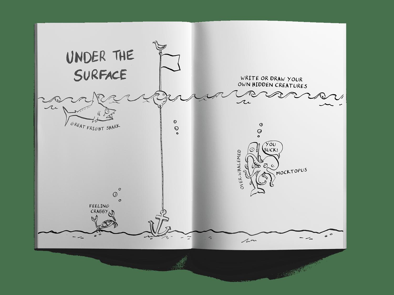 Tough stuff journal designed by a dozen eggs