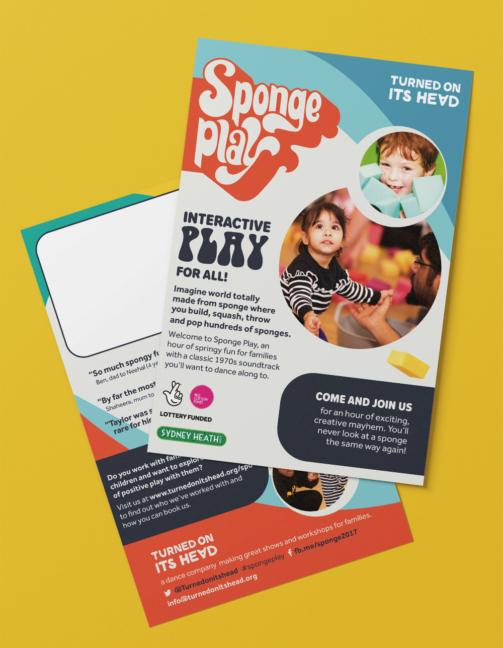 Flyer for Sponge Play, a dance workshop for interactive play.