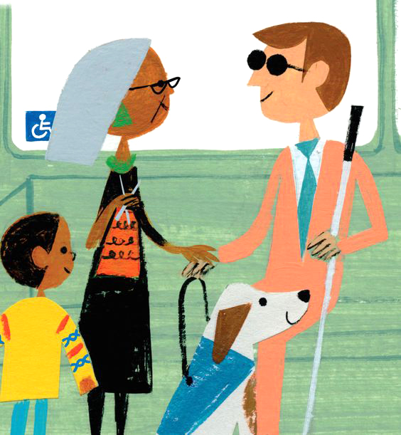 Illustration by Christian Robinson for the book Last Stop On Market Street