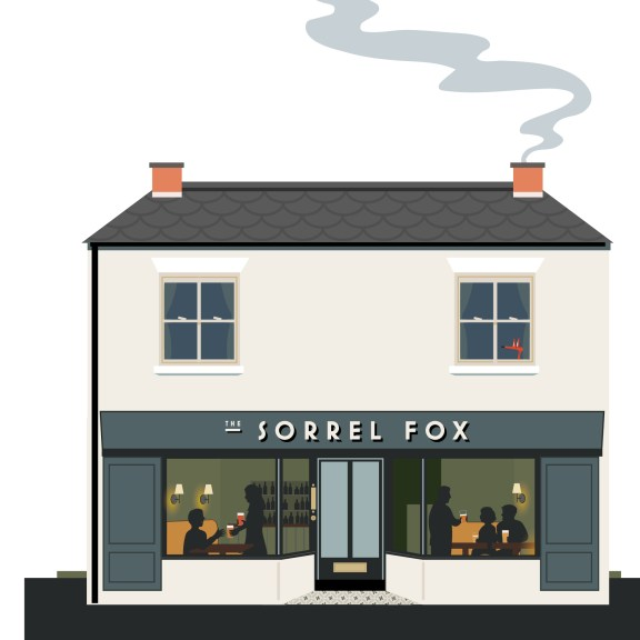 Illustration of the micropub The Sorrel Fox