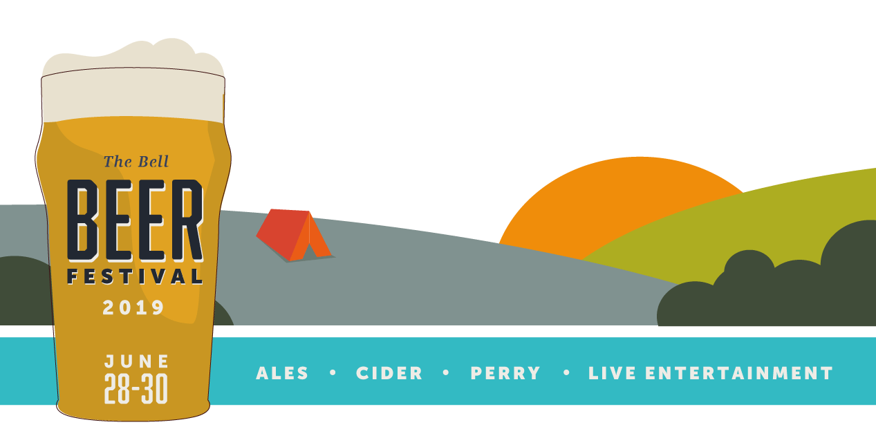 The Bell at Pensax beer festival with camping